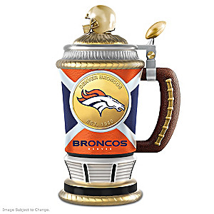 Denver Broncos Commemorative Porcelain Collector Stein