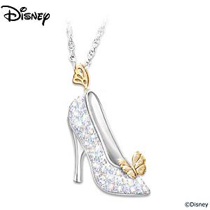 Disney cinderella crystal slipper pendant necklace disney cinderella crystal slipper pendant aloadofball Images