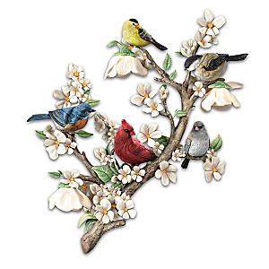 """Garden Delights"" Illuminated Wall Decor With Remote Control"