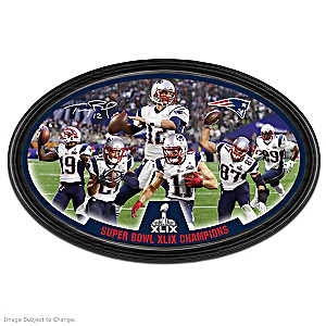 New England Patriots Super Bowl XLIX Framed Wall Decor