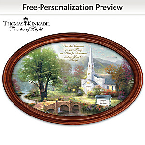 Thomas Kinkade Love For Always Collector Plate With 2 Names
