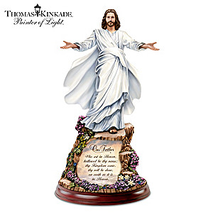 Thomas Kinkade Illuminated Jesus Sculpture