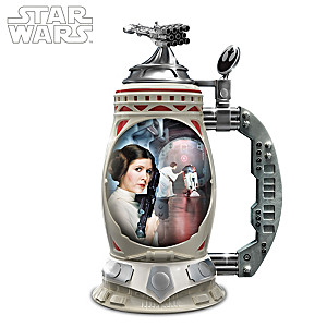 STAR WARS Princess Leia Heirloom Porcelain Stein