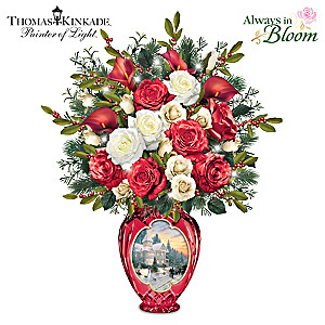 "Thomas Kinkade ""Holiday Radiance"" Illuminated Centerpiece"