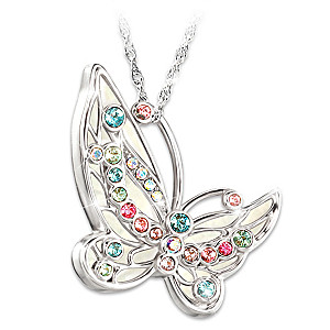 """""""Colors Of Inspiration"""" Crystal Pendant Necklace"""