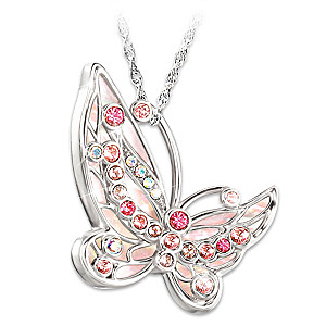 """Colors Of Hope"" Breast Cancer Awareness Crystal Necklace"