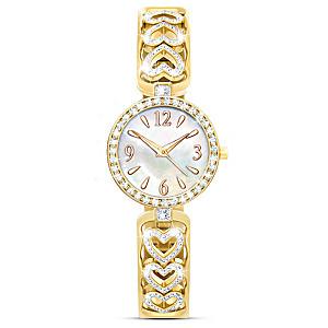 """Today, Tomorrow, Always"" Engraved Watch With 80 Diamonds"