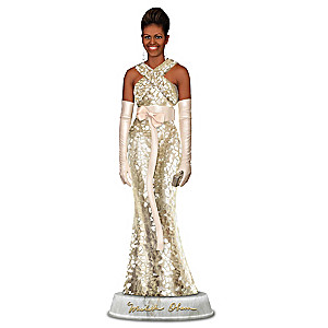 Michelle Obama Campaign Elegance Sculpture With Mosaic Dress