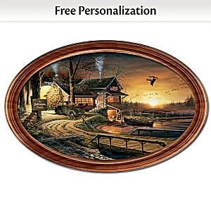 """Sunrise Retreat"" Collector Plate Personalized With Name"