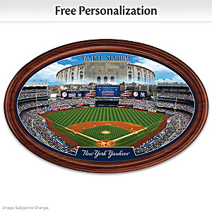 New York Yankees Stadium Plate Customized With Name