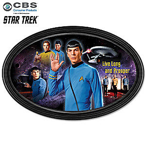 "STAR TREK ""Live Long And Prosper"" Tribute Collector Plate"