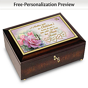 """A Mother's Love"" Music Box Personalized With Family Names"