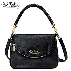 "Bob Mackie ""Burbank"" Leather Handbag"