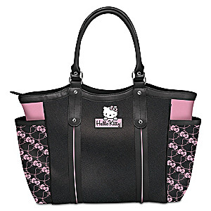 9a25feef799d Exclusive Applique Patch Hello Kitty Style Icon Shoulder Tote Bag