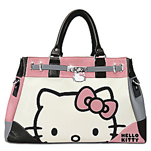 Hello Kitty Face Of Fashion Handbag With Custom Charm