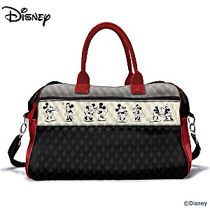 Disney Mickey Mouse And Minnie Mouse Quilted Weekender