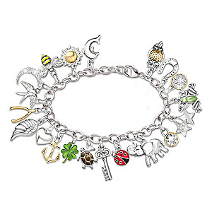 Endless Luck Charm Bracelet With 20 Symbolic Charms
