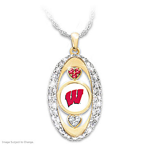 """For The Love Of The Game"" Wisconsin Badgers Pendant"
