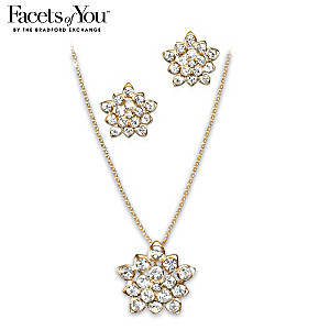 Star Dust Crystal Fashion Necklace And Earrings Set