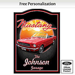 1964 Ford Mustang Welcome Sign Personalized With Name