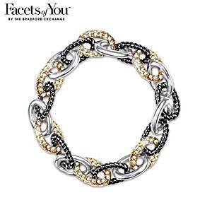 Fire & Ice Crystal Stretch Bracelet
