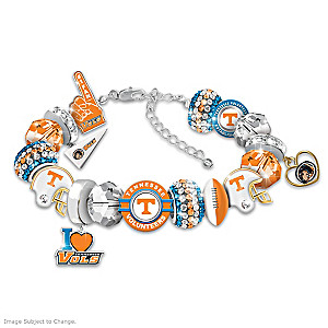 """Fashionable Fan"" Volunteers Bracelet With 16 Charms"