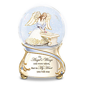 Forever In My Heart Musical Glitter Globe With Angel Inside