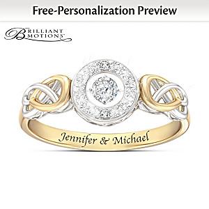 """Let Your Heart Dance"" Custom Brilliant Motions Diamond Ring"