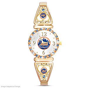 """""""My New York Mets"""" Ultimate Fan Women's Wristwatch"""