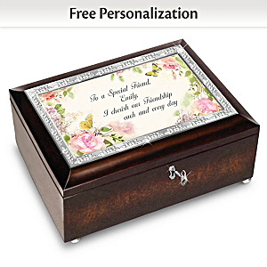 Special Friend Personalized Music Box With Poem Card