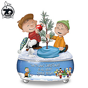 peanuts a charlie brown christmas sculptural music box
