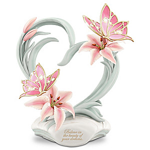 """""""Beauty Of Your Dreams"""" Musical Porcelain Butterfly Figurine"""