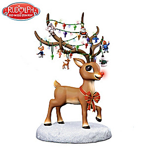 Rudolph The Red-Nosed Reindeer Illuminating Musical Figurine