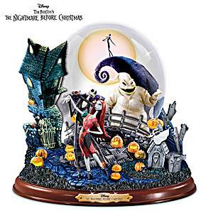 nightmare before christmas snowglobe with lights and music - Nightmare Before Christmas Snow Globes