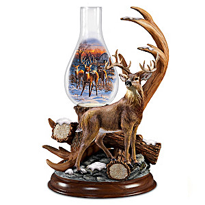 "Darrell Bush ""Out Of The Clearing"" Deer Sculpture Lamp"