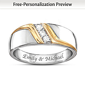 """Enduring Love"" Personalized Men's Diamond Ring"