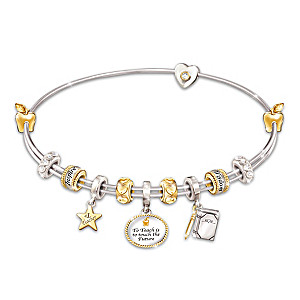 Passion For Teaching Charm Bracelet With Swarovski Crystals