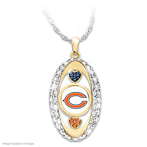 """For The Love Of The Game"" Chicago Bears Pendant"