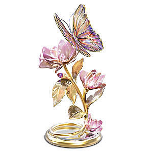 """Glimmering Gardens"" Illuminated Butterfly Sculpture"
