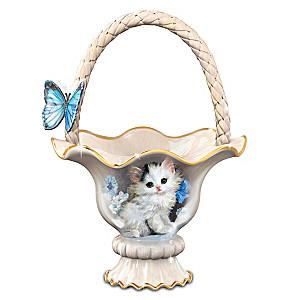 "Meta Pluckebaum ""Blue-Eyed Beauty"" Cat Basket Centerpiece"