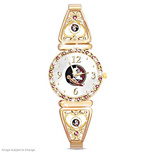 """My Seminoles"" Team-Color Crystal Ultimate Fan Watch"