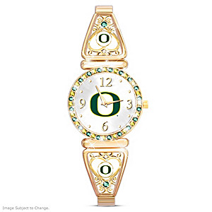 """My Ducks"" Team-Color Crystal Ultimate Fan Watch"