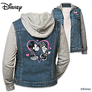 "Disney ""Love"" Mickey Mouse and Minnie Mouse Vested Hoodie"