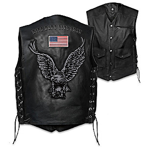 """Open Road"" Men's Leather Motorcycle Vest"