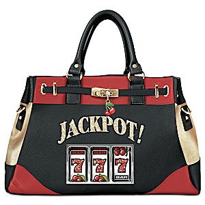 """Hit The Jackpot"" Slot Machine Handbag With Cherries Charm"