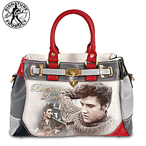 "Elvis ""Burning Love"" Handbag With Removable Shoulder Strap"