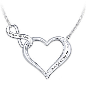 """Always & Forever My Niece"" Necklace With Swarovski Crystals"