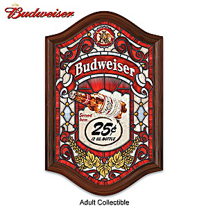 Budweiser Illuminated Stained Glass Wall Decor