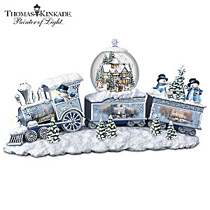 Thomas Kinkade Snowfall Express Illuminated Snowglobe Train