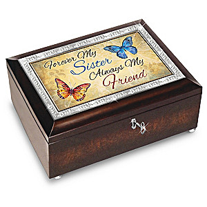 Forever My Sister, Always My Friend Music Box With Poem Card